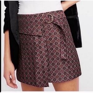 NWT Free People Maroon Wrap Skirt